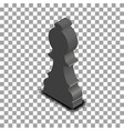 black chess piece bishop isometric vector image