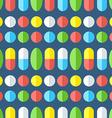 Medicines seamless pattern vector image