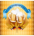 Vintage styled emblem with glasses of beer vector image