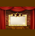 3d render marquee light rectangle vector image vector image