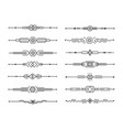 abstract dividers set geometric lines vector image vector image
