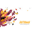 autumn seasonal trendy style vector image vector image