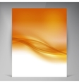 Beautiful Gold Satin Flyer vector image