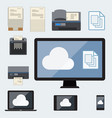 big data cloud computing concept vector image