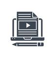 blog line glyph icon vector image