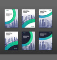 brochure cover design templates set vector image vector image