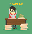 business man having problem with deadline vector image vector image