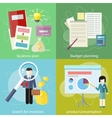Business plan budget planning search investors vector image vector image