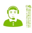 Call Center Operator Icon With Free Bonus vector image vector image