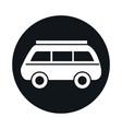 car mini van retro model transport vehicle block vector image vector image
