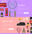 cartoon london sights banners vector image vector image