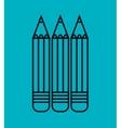 cartoon three pencil school design vector image vector image