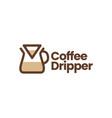 chemex coffee dripper paper filter logo icon vector image