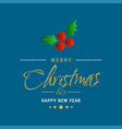 christmas greetings card with dark blue vector image