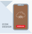 cloud computing data hosting network line icon in vector image