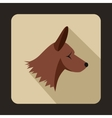 Collie dog icon flat style vector image vector image