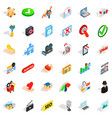 cyber icons set isometric style vector image vector image