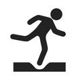 danger black icon alert and danger symbol vector image vector image