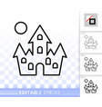 dracula house simple line halloween icon vector image vector image