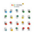easy icons 22dd database vector image vector image