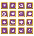 explosion icons set purple vector image vector image