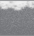 falling snow from the clouds on transparent vector image vector image
