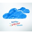 Felt pen of clouds vector image vector image