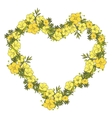 Floral wreath made of exotic flowers vector image