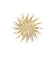 gold sun luxury logo icon abstract golden sunburst vector image
