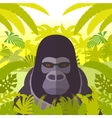 Gorilla on the Jungle Background vector image vector image