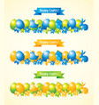 happy easter banners set vector image vector image