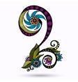 Henna Paisley Mehndi Doodles Design Element vector image vector image