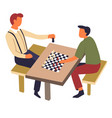 hoband sport chess game on table intellectual vector image vector image