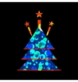 Icon Christmas tree for holiday season vector image