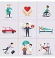 Insurance Character and Icons Template vector image