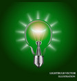 lightbulb isolated vector image