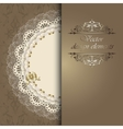 luxury design elements with a napkin vector image vector image