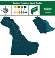 map of eastern province saudi arabia vector image vector image