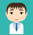 medical staff professional doctor and nurse vector image vector image