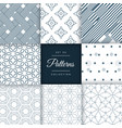 minimal style patterns pack set in different vector image vector image