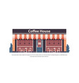 modern coffee house store empty no people city vector image