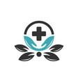 modern health clinic logo vector image vector image