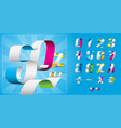 numbers ribbon vector image vector image