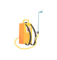 orange pressure sprayer for extermination of vector image vector image