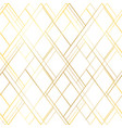 premium style seamless pattern golden cross lines vector image