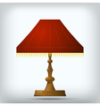 Red table lamp vector image vector image