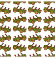 safari jeep pattern background vector image vector image