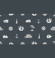 seamless background on the theme of sea travel vector image vector image