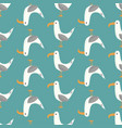seamless pattern seagulls vector image vector image