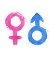 set gender symbols vector image